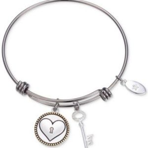 Unwritten Keep Me in Your Heart Charm Two Tone